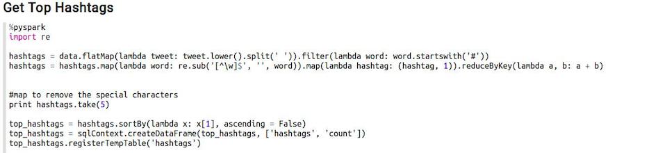 hashtags code